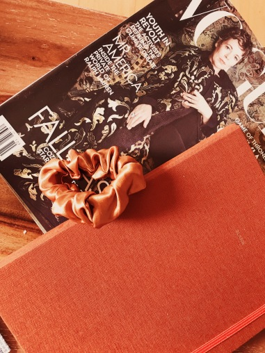 Vogue US, Milligram Notebook, Pepperberry & Pine Studio Scrunchie